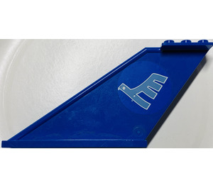 LEGO Tail 12 x 2 x 5 with Blue airline logo bird Sticker from  set 3181 (87614)