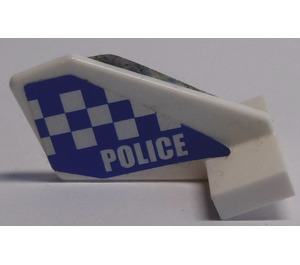 """LEGO Tail 2 x 3 x 2 Fin with """"POLICE"""" with Chequers Sticker (44661)"""