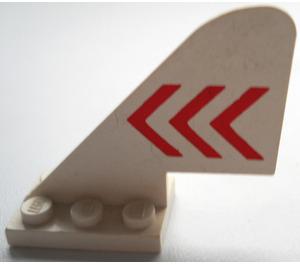LEGO Tail 2 x 5 x 3.667 Plane with Decoration (3587)