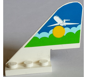 LEGO Tail 2 x 5 x 3.667 Plane with Sticker from Sets 1808, 1817 (3587)