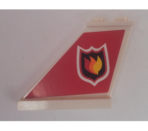 LEGO Tail 4 x 1 x 3 with Fire Logo Left Sticker (2340)