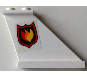 LEGO Tail 4 x 1 x 3 with Fire Logo (Right) Sticker (2340)