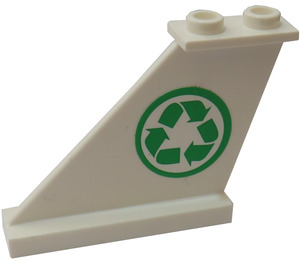LEGO Tail 4 x 1 x 3 with Recycle Logo Sticker (2340)