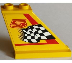 LEGO Tail 4 x 1 x 3 with Sticker from Set 8225 (2340)