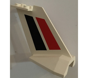 LEGO Tail Plane with Red and Black Stripes (4867)