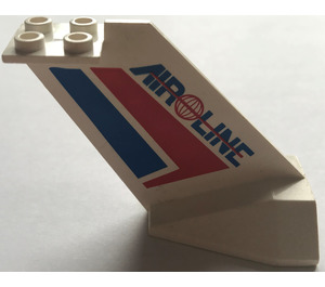 """LEGO Tail Plane with Red and Blue Stripes, Globe and """"AIR LINE"""" (4867)"""