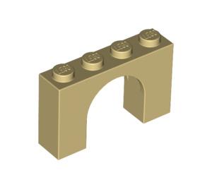LEGO Tan Arch 1 x 4 x 2 (6182)