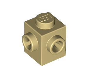 LEGO Tan Brick 1 x 1 with 2 Studs on 2 Sides (26604)