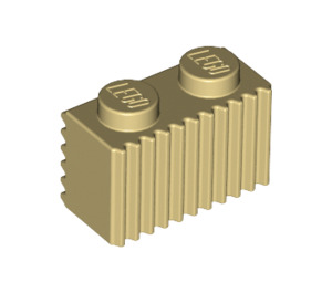 LEGO Tan Brick 1 x 2 with Grille (2877)
