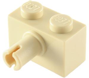 LEGO Tan Brick 1 x 2 with Pin (2458)