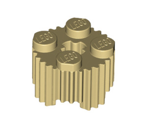 LEGO Tan Brick 2 x 2 Round with Grille (92947)