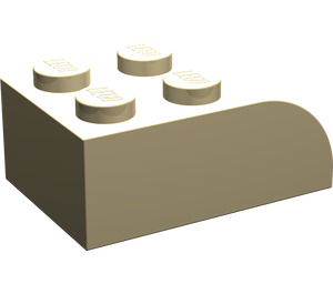 LEGO Tan Brick 2 x 3 with Curved Top (6215)