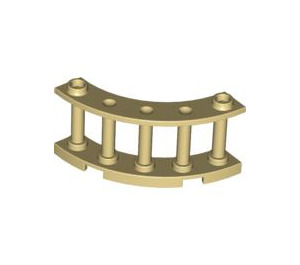 LEGO Tan Fence Spindled 4 x 4 x 2 Quarter Round with 2 Studs (30056)