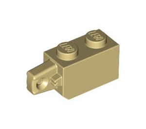 LEGO Tan Hinge Brick 1 x 2 Locking with Single Finger (Vertical) On End (30364)