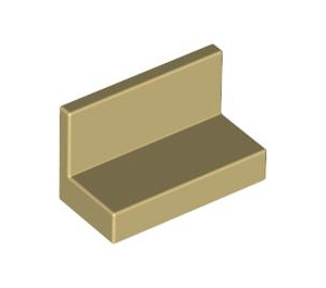 LEGO Tan Panel 1 x 2 x 1 without Rounded Corners (4865)