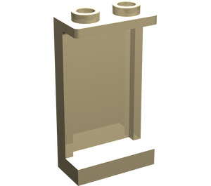 LEGO Tan Panel 1 x 2 x 3 with Side Supports - Hollow Studs