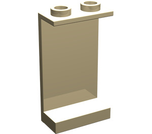 LEGO Tan Panel 1 x 2 x 3 without Side Supports, Hollow Studs (2362)