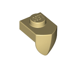 LEGO Tan Plate 1 x 1 with Tooth (15070)