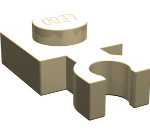 LEGO Tan Plate 1 x 1 with Vertical Clip (Thin 'U' Clip) (60897)