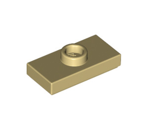 LEGO Tan Plate 1 x 2 with 1 Stud (with Groove and Bottom Stud Holder) (15573)