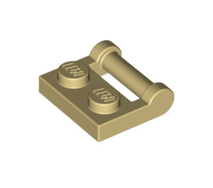 LEGO Tan Plate 1 x 2 with Handle (Closed Ends) (48336)