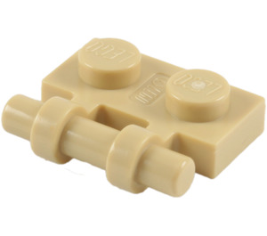 LEGO Tan Plate 1 x 2 with Handle (Open Ends) (2540)