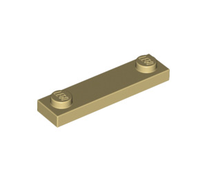 LEGO Tan Plate 1 x 4 with Two Studs without Groove (92593)