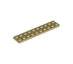LEGO Tan Plate 2 x 10 (3832)