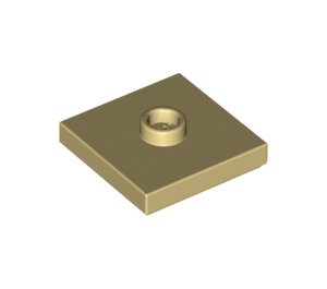 LEGO Tan Plate 2 x 2 with Groove and 1 Center Stud (87580)