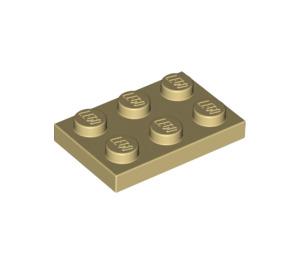 LEGO Tan Plate 2 x 3 (3021)