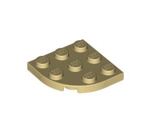 LEGO Tan Plate 3 x 3 Corner Round (30357)