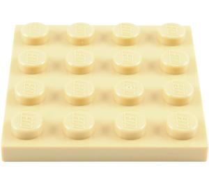 LEGO Tan Plate 4 x 4 (3031)