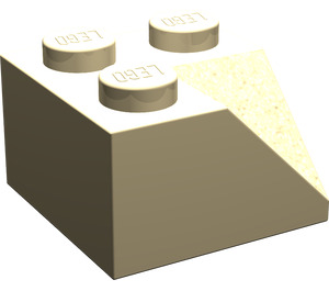 LEGO Tan Slope 2 x 2 (45°) with Double Concave (Rough Surface) (3046)