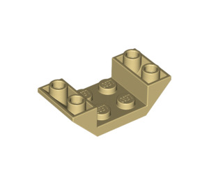 LEGO Tan Slope 2 x 4 (45°) Double Inverted with Open Center (4871)