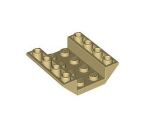 LEGO Tan Slope 45° 4 x 4 Double Inverted with Open Center (No Holes) (4854)