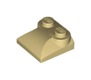 LEGO Tan Slope Curved 2 x 2 with Curved End (47457)