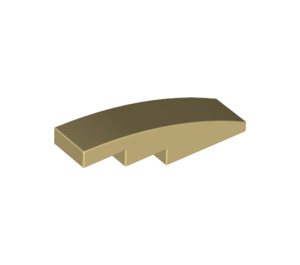 LEGO Tan Slope Curved 4 x 1 (11153 / 61678)