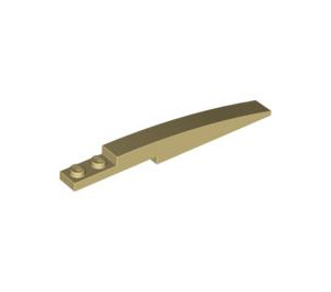 LEGO Tan Slope Curved 8 x 1 with Plate 1 x 2 (85970)