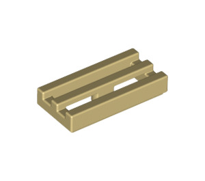 LEGO Tan Tile 1 x 2 Grille (with Bottom Groove) (2412)