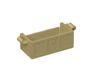 LEGO Tan Treasure Chest Bottom with Slots in Back (4738)
