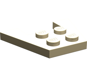 LEGO Tan Wedge Plate 3 x 4 without Stud Notches (4859)