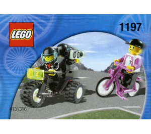 LEGO Telekom Race Cyclist and Television Motorbike Set 1197-1