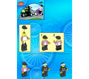 LEGO Telekom Race Cyclist and Television Motorbike Set 1197-1 Instructions