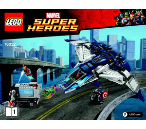 LEGO The Avengers Quinjet City Chase Set 76032 Instructions