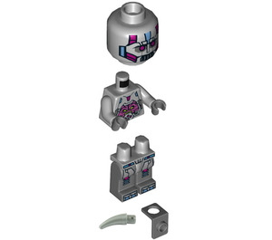 LEGO The Kraang Medium Stone Gray Exo-Suit Body with Back Barb Minifigure