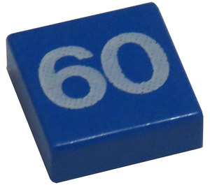 LEGO Tile 1 x 1 with 60 Decoration with Groove (3070)