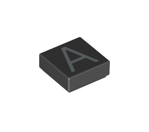 LEGO Tile 1 x 1 with 'A' Decoration with Groove (11520 / 13406)