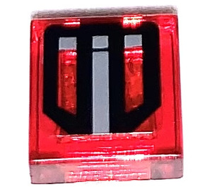 LEGO Tile 1 x 1 with Black Lines and Gray Filling Sticker with Groove (3070)