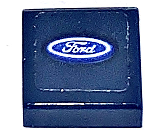 LEGO Tile 1 x 1 with Ford Sticker with Groove (3070)