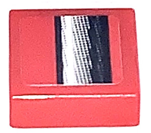 LEGO Tile 1 x 1 with Middlepart of Bumper Sticker with Groove (3070)